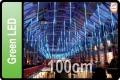 LED DROPS CURTAIN GREEN LED (5X100CM TUBES X 5M)