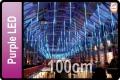 LED DROPS CURTAIN PURPLE LED (5X100CM TUBES X 5M)