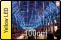 LED DROPS CURTAIN YELLOW LED (5X100cm TUBES X 5M)